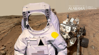 a space suit on Mars